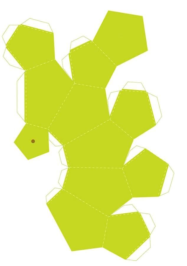3 Объемная груша из бумаги шаблон
