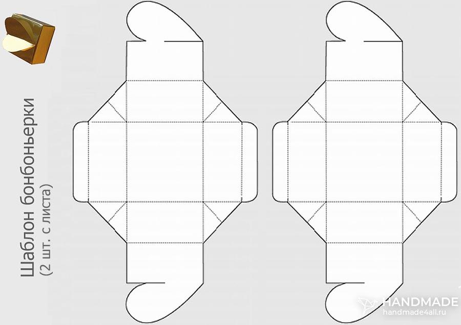 Бонбоньерка своими руками – схема с размерами