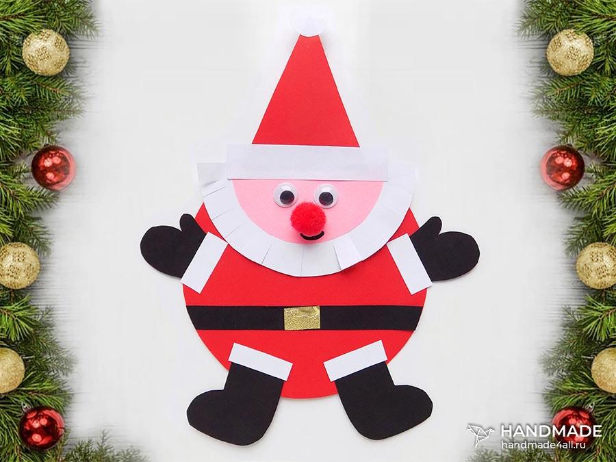 Открытка с Дедом Морозом своими руками