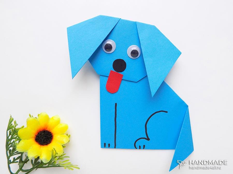 собака из бумаги своими руками – пошаговый мастер-класс