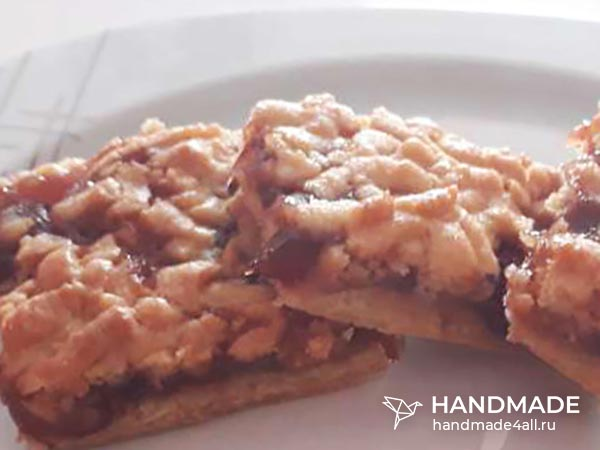 Домашнее песочное печенье с вареньем на маргарине – пошаговый рецепт