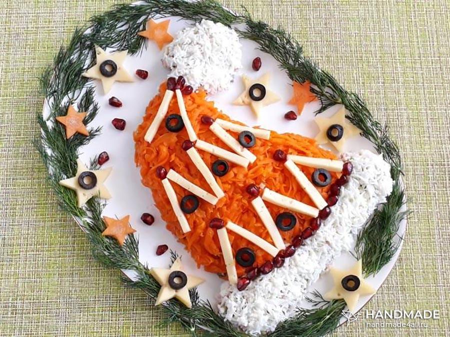 Салат «Шапка Деда Мороза»