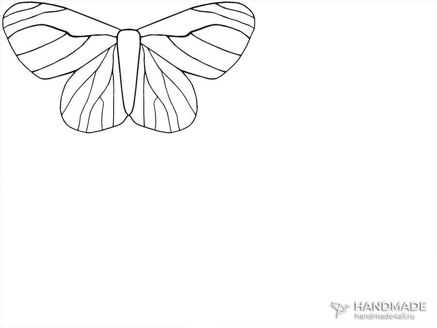 шаблон для украшения брошь-бабочка