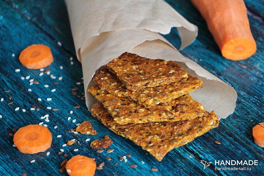 Морковные хлебцы – рецепт с фото пошагово