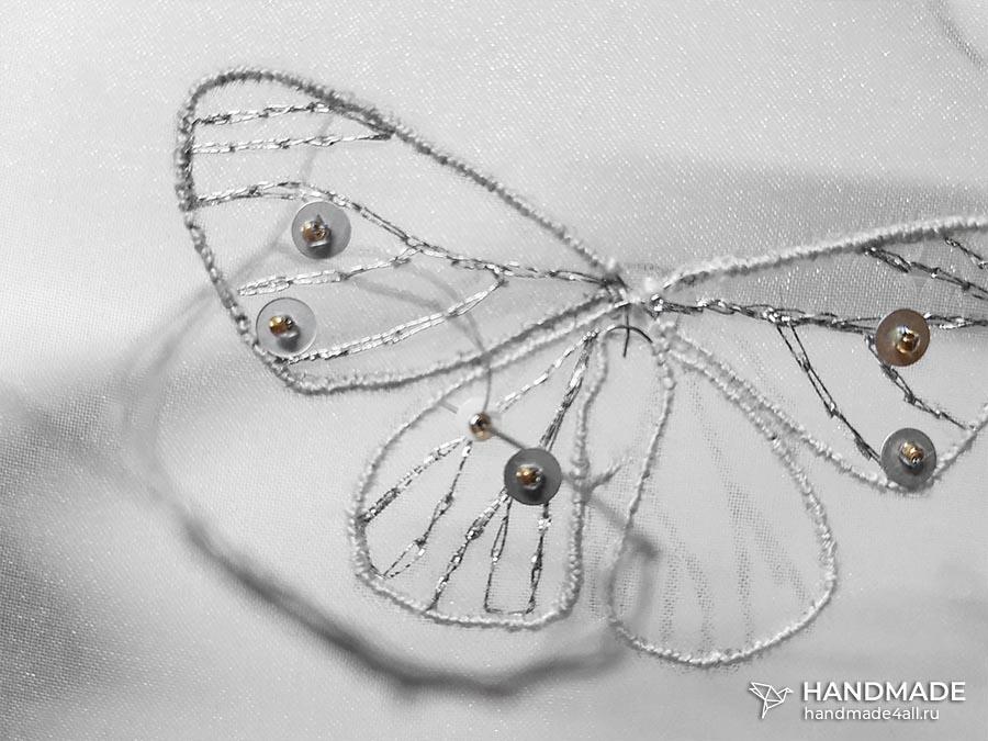 брошь «Бабочка» своими руками пошагово