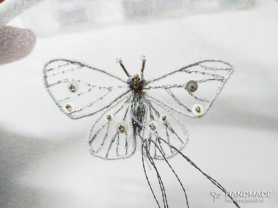 брошь «Бабочка» своими руками