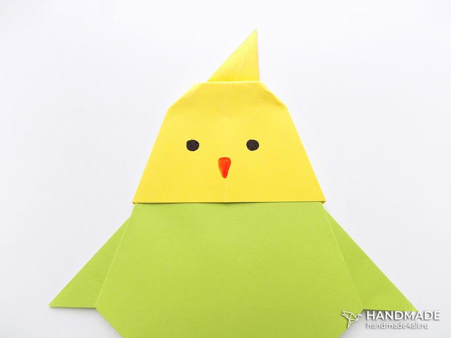 Как сделать попугайчика из бумаги – мастер-класс с фото поэтапно