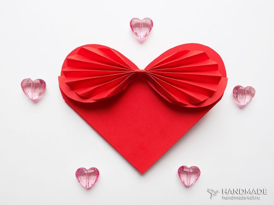 Открытка валентинка в виде сердца своими руками из бумаги