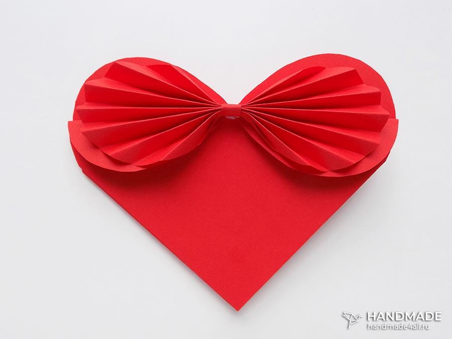 Открытка в виде сердца своими руками из бумаги