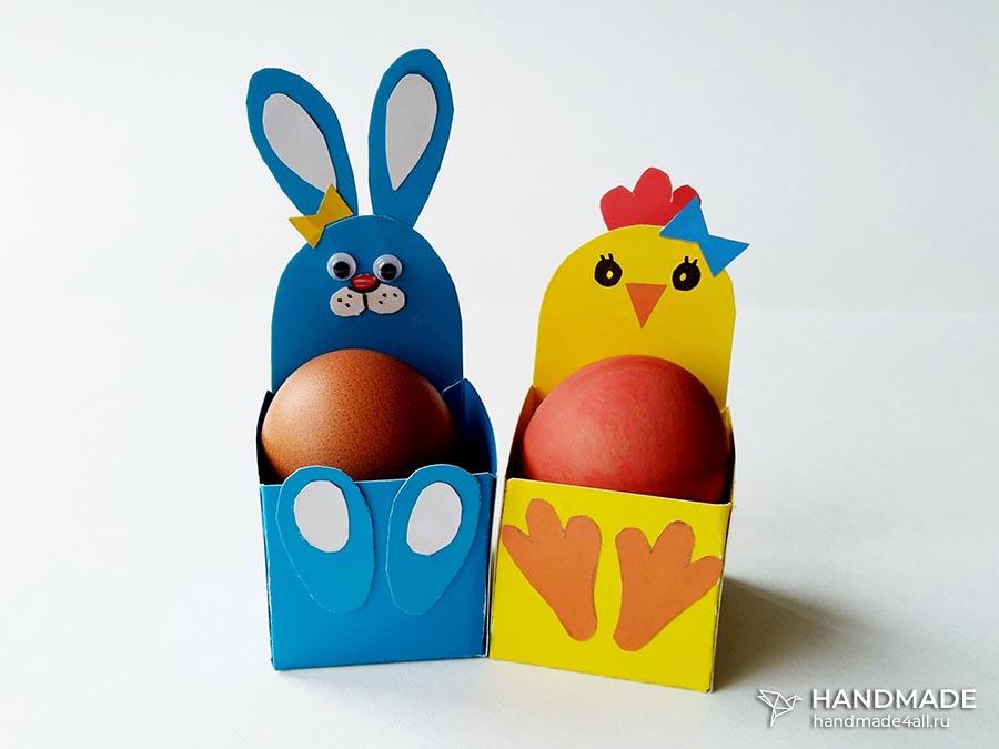Коробочки для пасхальных яиц – простой мастер-класс