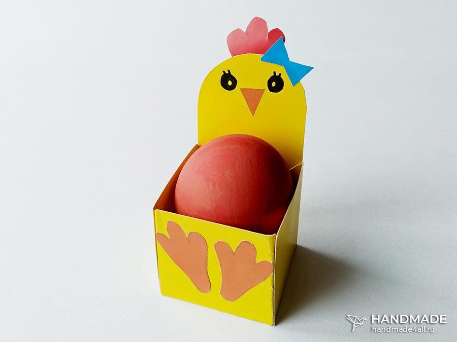 Коробочка для пасхальных яиц – простой мастер-класс для детей