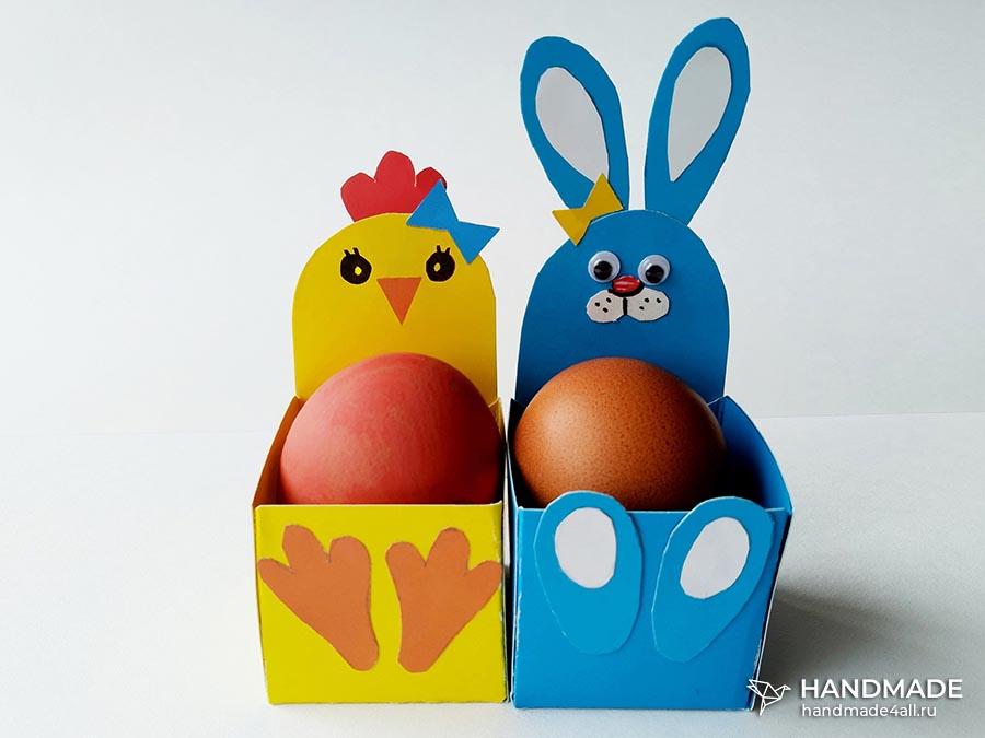 Коробочки для пасхальных яиц – простой мастер-класс для детей