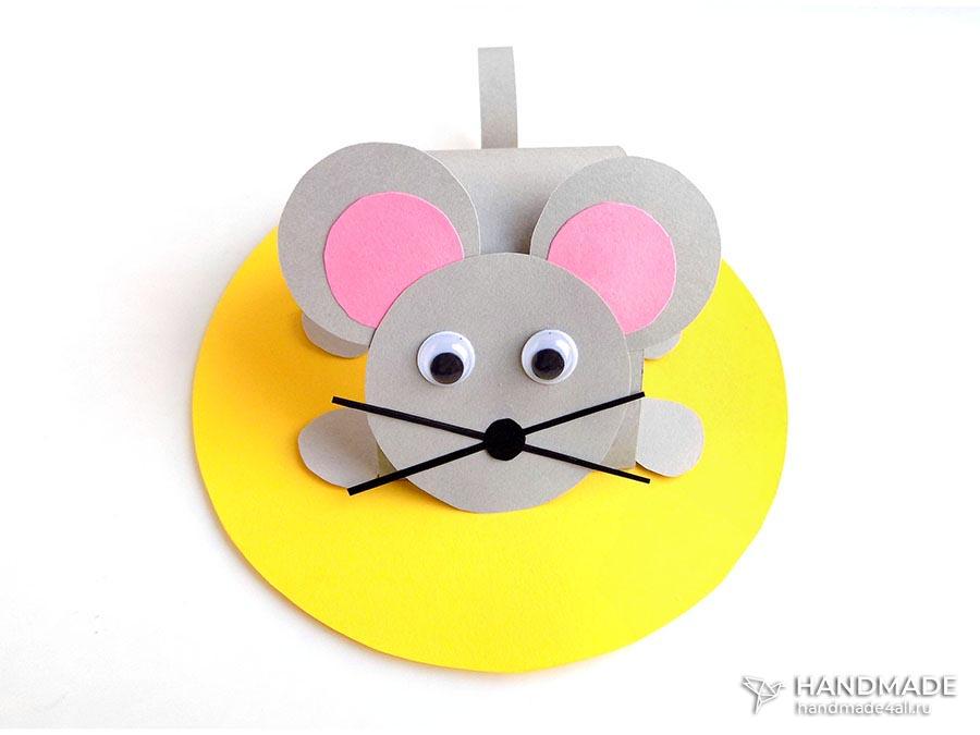 Мышка из бумаги своими руками для детей